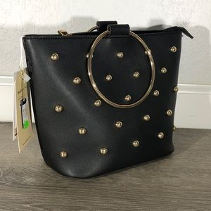 Makenzie Black Studded Crossbody Bag Z3016